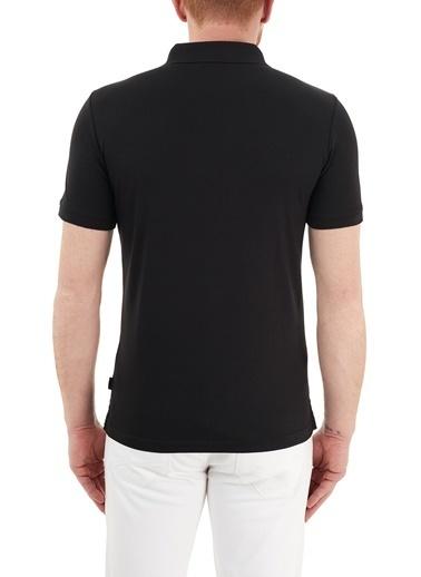 Calvin Klein  Slim Fit % 100 Pamuk Düğmeli Polo T Shirt Erkek Polo K10K107090 Beh Siyah